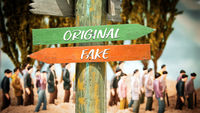 Street Sign Original versus Fake