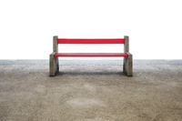 red seat bench background