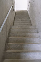 empty concrete staircase or cement stairs