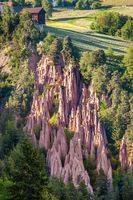 Earth pyramids near on the Ritten, South Tyrol, Italy
