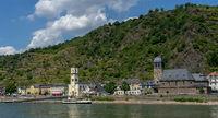 View to the german village St. Goarhausen