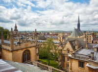 Exeter College and Bodleian Library as seen from the cupola of Sheldonian Theatre. Oxford. England