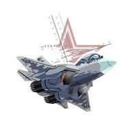 Cartoon modern military fighter plane