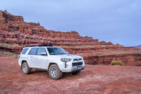 Toyota 4runner SUV on a desert trail