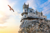 The Swallow Nest and the seagull, Crimea scenery