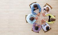 Teamwork brainstorming meeting