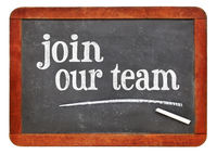 Join our team blackboard sign