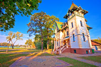 Palic lake waterfront near Subotica historic architecture view