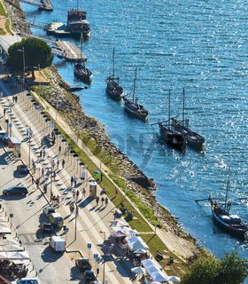 Wine boats by Porto embankment
