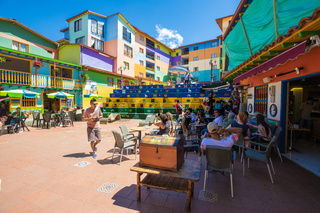 Zocalo central square Guatape Colombia