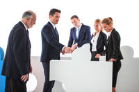 Business teamwork and problem solution