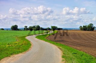 Poel Fahrradweg - island Poel in Germany, bike trailing