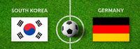 Football match South Korea vs. Germany