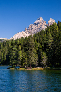 Beautiful Lago di Misurina in the Dolomites in Northern Italy