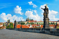 Charles Bridge and the city