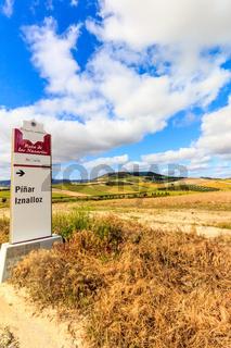 Signpost to Pinar Iznalloz