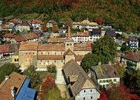 Romanische Stiftskirche,  Romainmôtier-Envy, Kanton Waadt, Schweiz