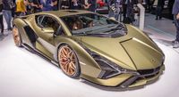 Lamborghini Sian auf einer Automobilmesse