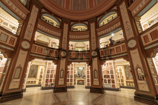 San Francisco, California - June 5, 2018: Interior of San Francisco Columbarium.