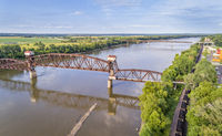 Railroad Katy Bridge at Boonville over Missouri River