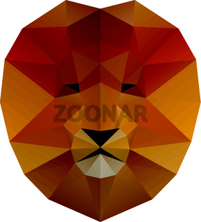 Low poly illustration. Lion