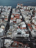 Bird's eye view of the Greek city of The saloniki.