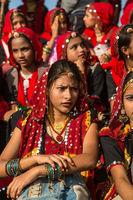 Indian girls in Pushkar