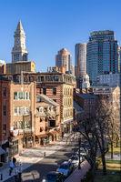 Boston Downtown cityscape