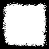 Black silhouette of grunge frame on white