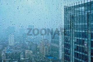 Rain drops on window