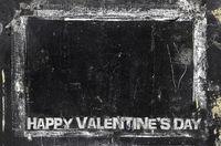 Happy Valentine's Day grungy chalkboard background