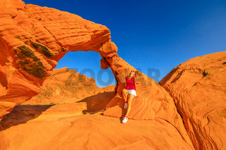 Woman at Arch Rock