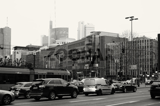 Verkehr Stadtzentrum Frankfurt