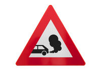 Traffic sign isolated - Exhaust fumes