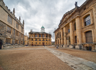 Clarendon quadrangle occupied by the old Old Bodleian Library . Oxford University. Oxford. England