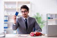 Agent offering car motor insurance