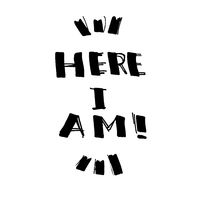 Here I Am! - lettering