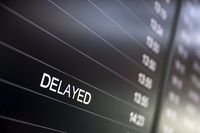 Boarding time monitor screens delayed