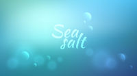 Water blurred background with Sea salt text