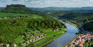 Panorama vom Lilienstein
