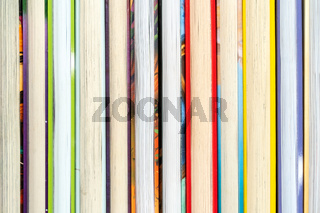 Books arranged in a row