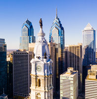 Urban Core City Center Downtown Philadelphia Pennsylvania