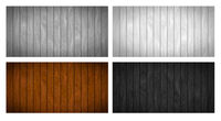 Set of different realistic wooden boards with texture