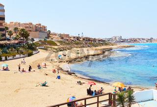 Cala de Cabo Cervera beach. Torrevieja, Spain