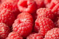 Fresh Raspberries Close View