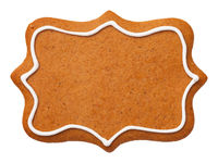 Gingerbread Label Cookie Isolated on White Background