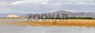 panorama of ethiopian lake Ziway, Ethiopia