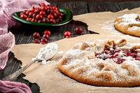 Open pies with gooseberries