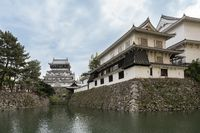 Kokura Castle landmark in Kitakyushu, Japan