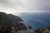 View of danger cliffs in Cabo Penas, Spain